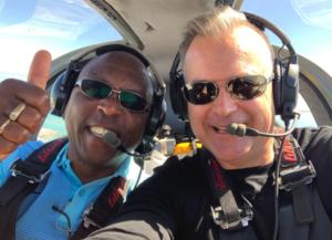 John Ngatia in aeroplane cockpit